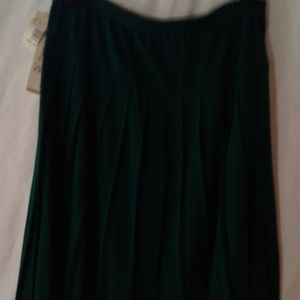 NWT Alfred Dunner Forest Pleated Skirt Sz 14 $39